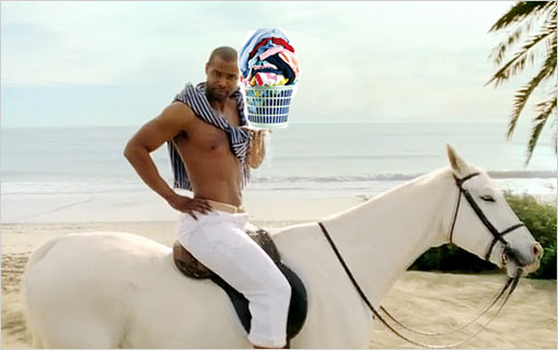 old spice man with your laundry